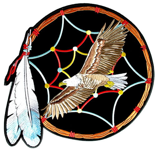 Eagle dream catcher biker patch