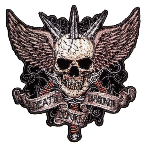 Skull and swords biker patch