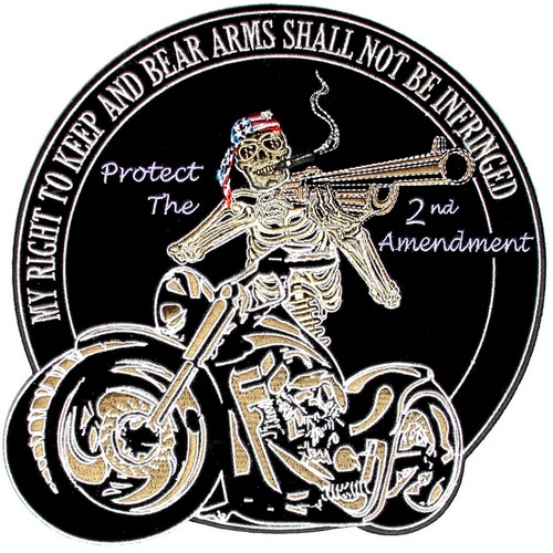 motorcycle skeleton biker patch