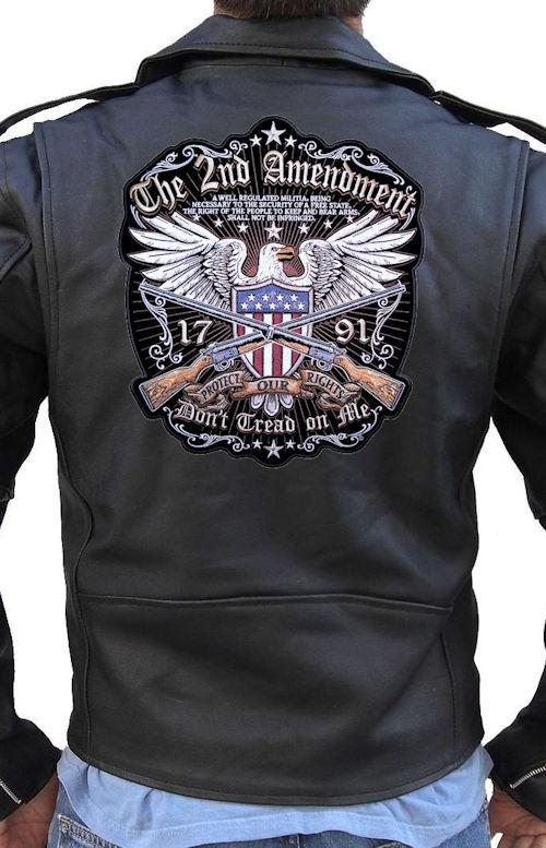 The 2nd amendment gun rights biker patch