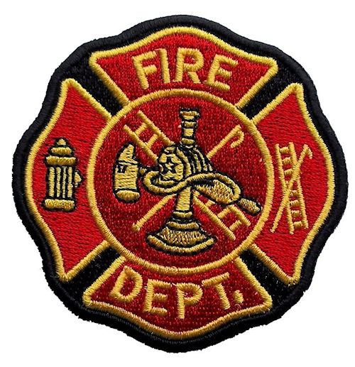 Firefighter Maltese cross biker patch