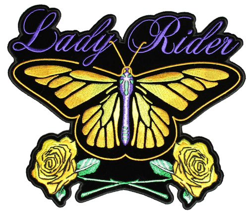 Ladies butterfly biker patch