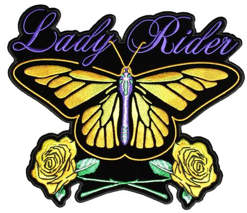 Ladies butterfly biker patch