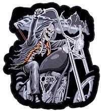 Evil grim reaper biker patch