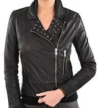 Womens studded leather motorcycle jackets