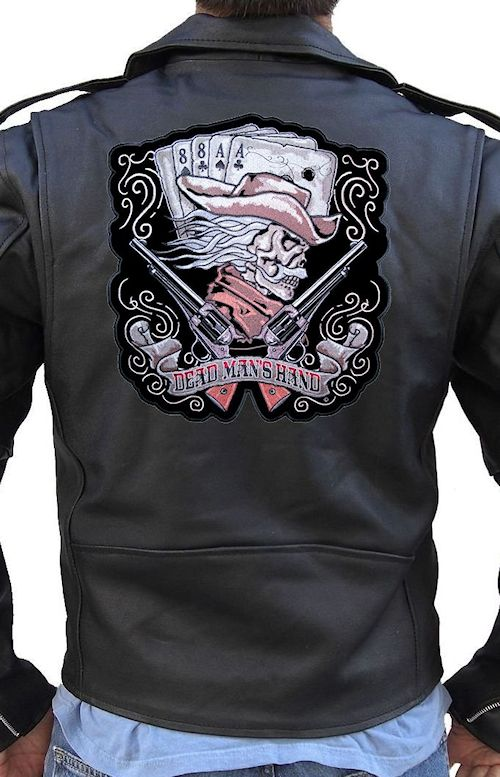 Aces and eights dead mans hand biker patch