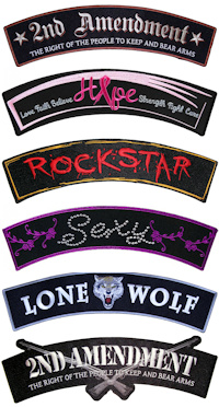 Great biker rocker patches