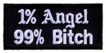 1% Angel 99% bitch biker patch