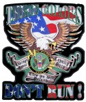 Colors don't run US army biker patch
