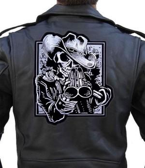 Cowboy skeleton patch