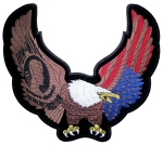 Large biker patch patriotic eagle