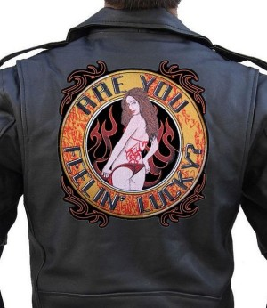 Ladies Large Sexy Biker Patch