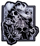 Large biker patch grim reaper shotgun