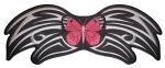 Pink butterfly tribal patch
