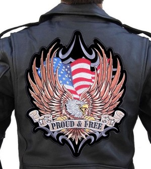 Large patriotic biker patch