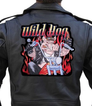 Large biker patch motorcycle hog