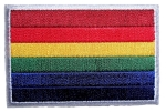 Rainbow Flag Biker Patch