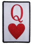 Queen hearts biker patch