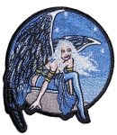 Angel biker patch