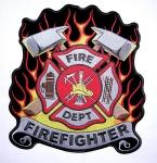 Fireman biker patch