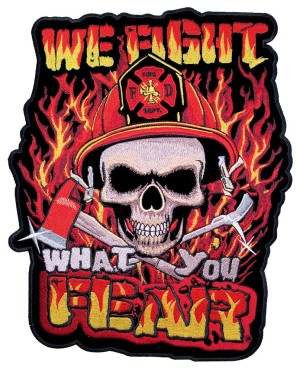 Fireman firefighter biker patch