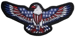 red white and blue biker patch