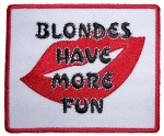 Ladies biker patch blondes have more fun