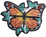 Ladies biker patch butterfly