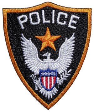 Biker patch police badge