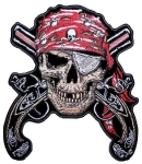 Biker patch pirate skull