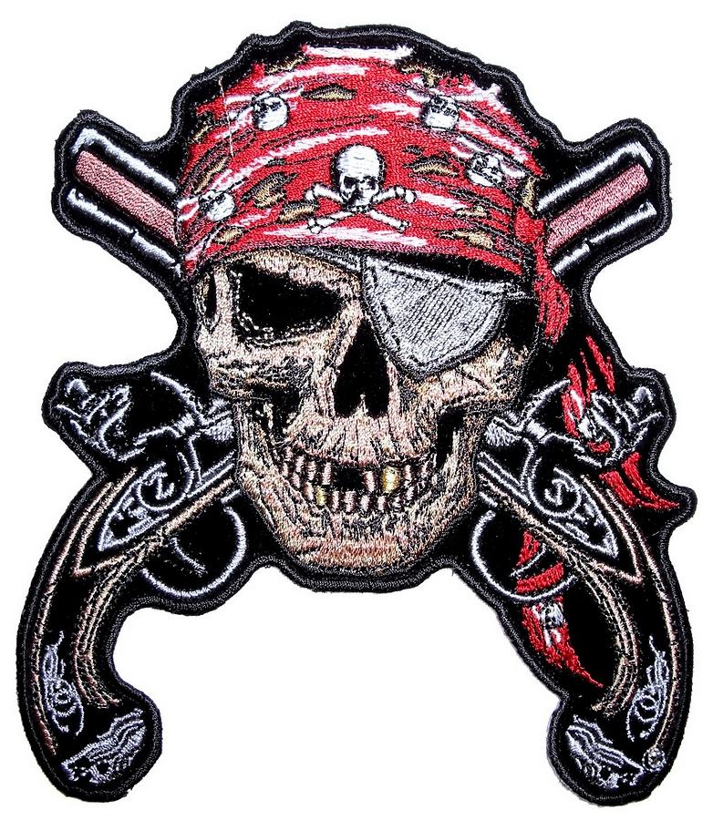 Pirate skull and guns - photo#23