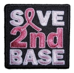 Biker patch says save 2nd base