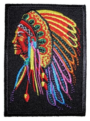 Biker patch of native American
