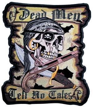 Dead men tell no tales biker patch