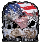 Biker patch with military images