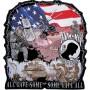 POW MIA military biker patch