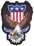 Patriotic eagle biker patch