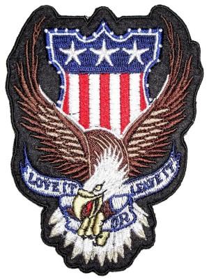 Patriotic eagle biker patch