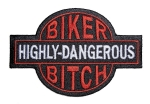 ladies biker patch bitch