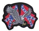Biker patch eagle confederate flags