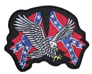 Biker patch eagle confederate flags