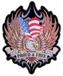 Patriotic freedom biker patch