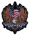 Patriotic biker patch