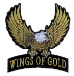 Golden eagle biker patch