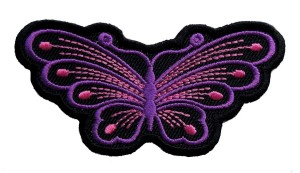 Purple butterfly ladies patch