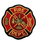 Biker patch fire department badge