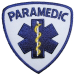 Rider patch paramedic badge