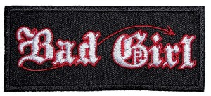 Bad girl biker patch