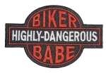 Lady rider biker babe patch
