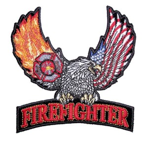 Biker patch firefighter eagle